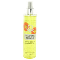 Warming Mango By Benetton 8.4 oz Refreshing Body Mist for Women