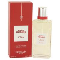Habit Rouge L'Eau By Guerlain 3.3 oz Eau De Toilette Spray for Men