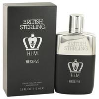 British Sterling Him Reserve by Dana 3.8 oz Eau De Toilette Spray for Men