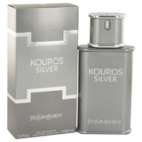 Kouros Silver by Yves Saint Laurent 3.4 oz Eau De Toilette Spray Tester for Men