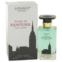 Fling In New York By Lovance 3.4 oz Eau De Toilette Spray for Men
