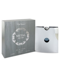 Metal Silver by Ron Marone 3.4 oz Eau De Toilette Spray for Men