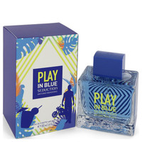 Play in Blue Seduction by Antonio Banderas 3.4 oz Eau De Toilette Spray for Men