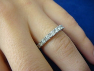 14k White Gold 0.65 CT Diamond Wedding-Anniversary Band