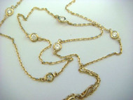 """Diamonds by the Yard"" 7 Station Yellow Gold Necklace"