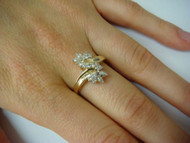 14k Yellow Gold Ladies Freestyle Diamond Ring
