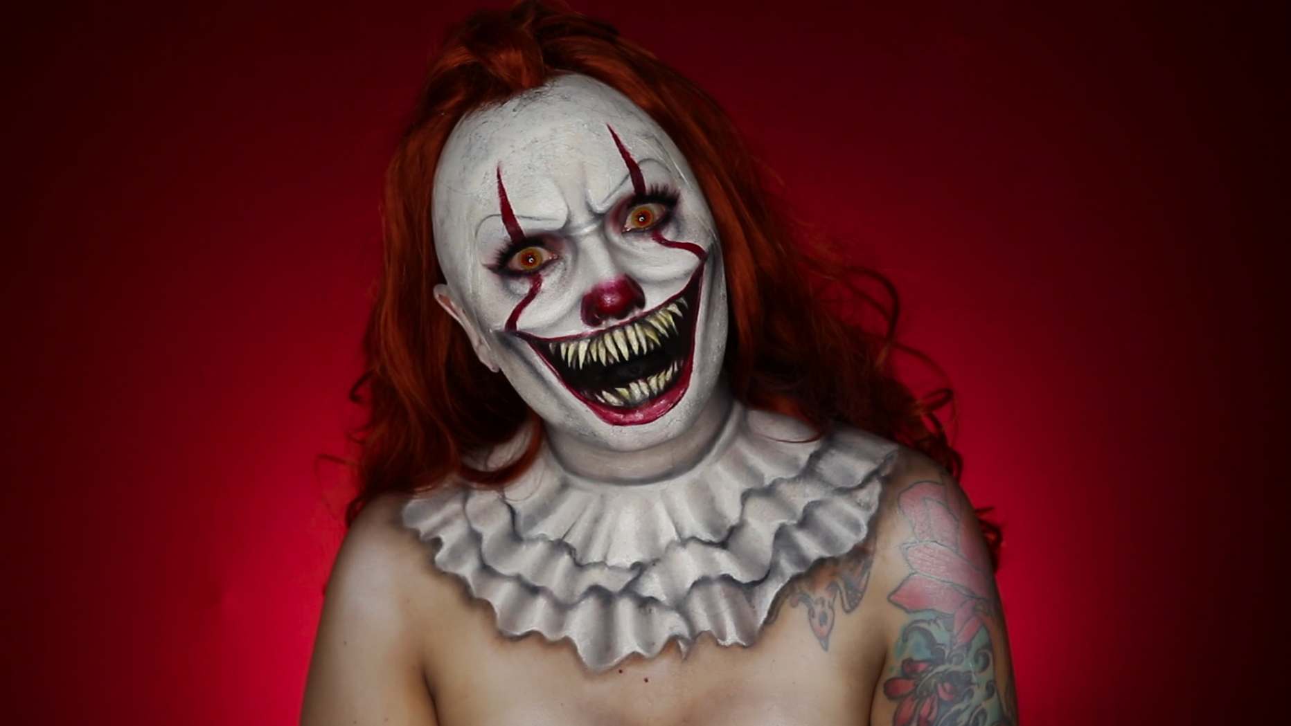 pennywise the clown makeup tutorial mehron