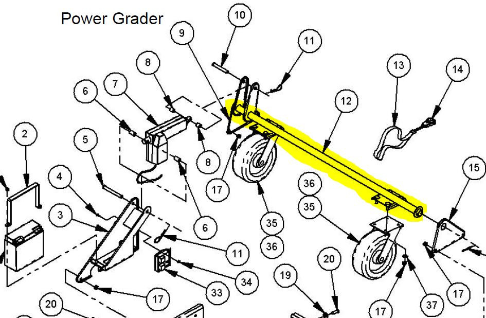 23395 } AXLE ASSEMBLY 60 IN