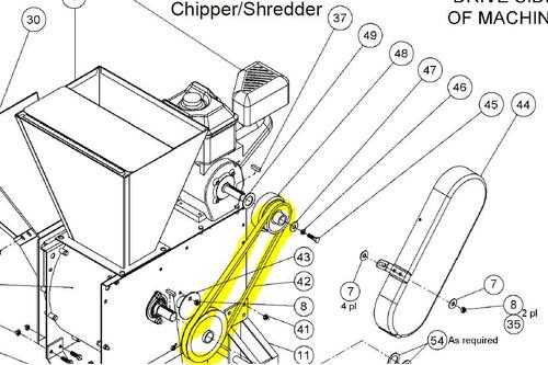 29339 } BELT CHIPPER/SHREDDE