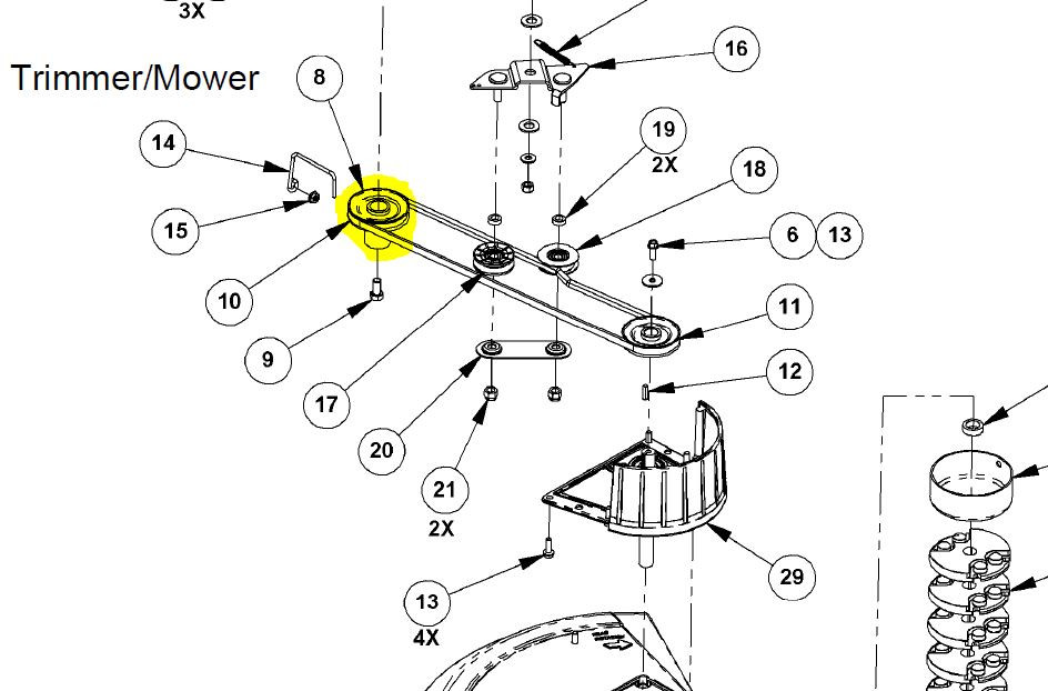 31087 } PULLEY DRIVE 3L V-BE
