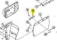 C30142 - RETAINER, BATTERY - Item #25 in illustration