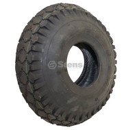 Stens 160-342 4.10x3.50-6 Stud 2-Ply Tire,Black