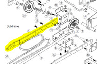 102263 } RIGHT SUBFRAME FLAT BAR