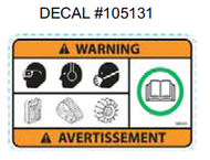 105131 } DECAL WARNING SAFETY
