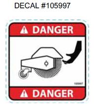 105997 } DECAL DANGER BRUSH