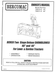 700210-0 } Berco Two Stage Deluxe Snowblower
