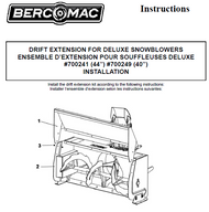 700241 } DRIFT EXTENSION FOR DELUXE SNOWBLOWERS