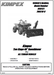 """700310-6 } Two Stage 48"""" Snowblower For ALL TERRAIN VEHICLES"""