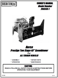 700360-1 } 48'' Prestige Snowblower (with saddle and timing belt)