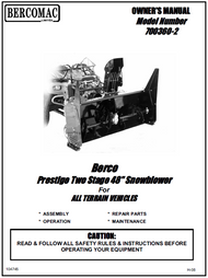 700360-2 } 48'' Prestige Snowblower (with saddle and timing belt)