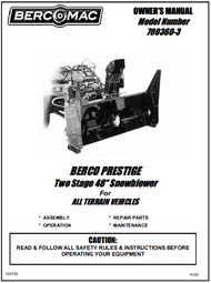 700360-3 } 48'' Prestige Snowblower (with saddle and timing belt)
