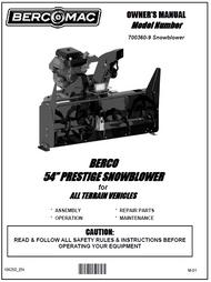 700360-9 } 54'' Prestige Snowblower (with saddle, timing belt & 4.75'' wide universal subframe)