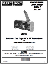 700378-2 } 48'' Northeast Snowblower Manual Lift (Belts: see drive manual)