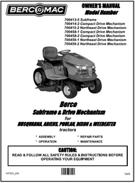 700413-5 } Subframe for Husqvarna, Poulan, Dixon & Weedeater