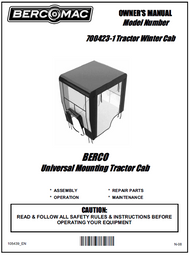 700423-1 } 40'' Winter Cab for Lawn and Garden Tractor
