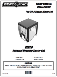 700423-2 } 40'' Winter Cab for Lawn and Garden Tractor
