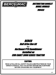 700433 } Half drive line kit