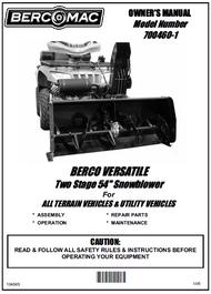 700460-1 } 54'' Versatile Snowblower (motor offset to the right, one V-Belt & electric belt tensioner)