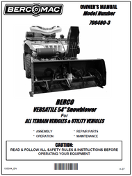 700460-3 } 54'' Versatile Snowblower (motor offset to the right, one V-Belt & electric belt tensioner)