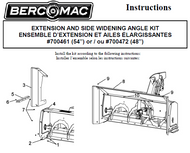 700461 } Extension and side widening angle kit