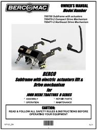 700470-2 } Subframe with Electric Lift & Drive Mechanism for JOHN DEERE TRACTORS 100, LA & D SERIES