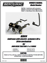 700470-3 } Compact Drive MechanismforJOHN DEERE TRACTORS D & E SERIES