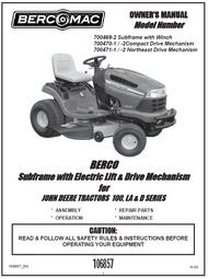 700471-1 } Subframe with Electric Lift & Drive Mechanism for JOHN DEERE TRACTORS 100, LA & D SERIES