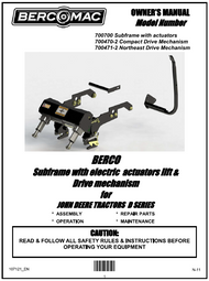 700471-2 } Subframe with Electric Lift & Drive Mechanism for JOHN DEERE TRACTORS 100, LA & D SERIE