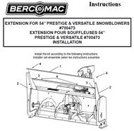 """700473 } Extension for 54"""" Prestige & Versatile snowblowers"""