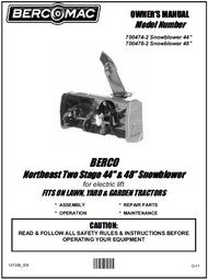 700478-2 } 48'' Northeast Snowblower Electric Lift (Belts: see drive manual)
