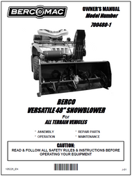 700480-1 } 48'' Versatile Snowblower (motor offset to the right, one V-Belt & tensioner)