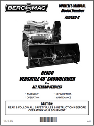 700480-2 } 48'' Versatile Snowblower (motor offset to the right, one V-Belt & electric belt tensioner)