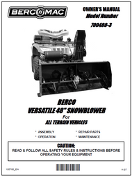700480-3 } 48'' Versatile Snowblower (motor offset to the right, one V-Belt & electric belt tensioner)