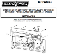 700484 } Extension for Northeast Snowblower 48""