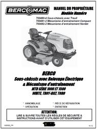 700490-4 } Sous-châssis avec Treuil pour tracteursMTD SÉRIE 1000 ET 1500 WHITE, TROY-BILT, TORO