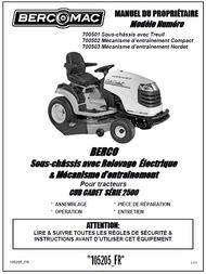 700501 } Sous-châssis avec Relevage Électrique & Mécanisme d'entraînement Pour tracteurs CUB CADET SÉRIE 2500