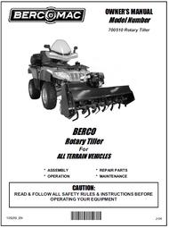 700510 } 50'' Rotary Tiller for ATV