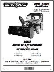 700512 } 66' Vantage Snowblower (with one V-Belt & electric belt tensioner engagement)