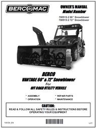 700512-2 } 66' Vantage Snowblower (with one V-Belt & electric belt tensioner engagement)