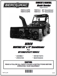 700512-4 } 66'' Vantage Snowblower (with two V-Belts & electric clutch)